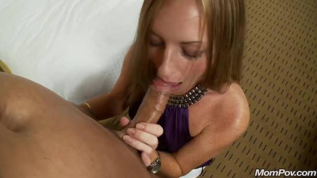 Deepthroat and Messy Facial with Natural Redhead MILF