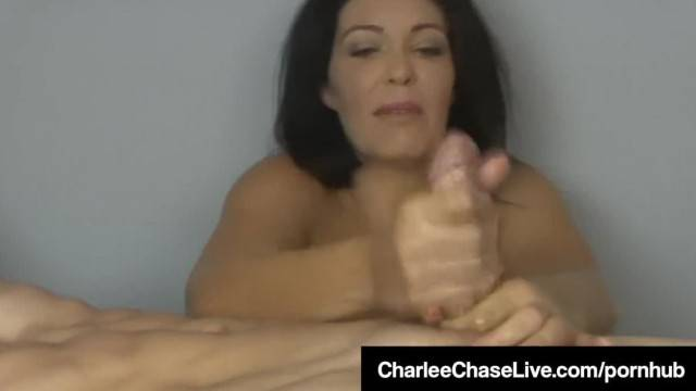 Big Titty Latina Charlee Chase gives Amazing Oily Handjob to Client