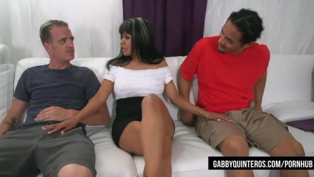 Nympho Mexican Gabby Quinteros gets Fucked by Students