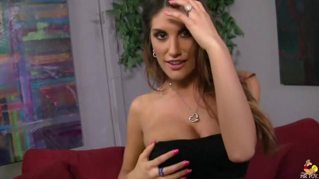 POV Deep Fuck with Busty Brunette MILF August Ames