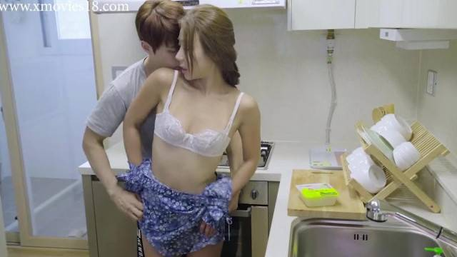 Asian couple kitchen tease