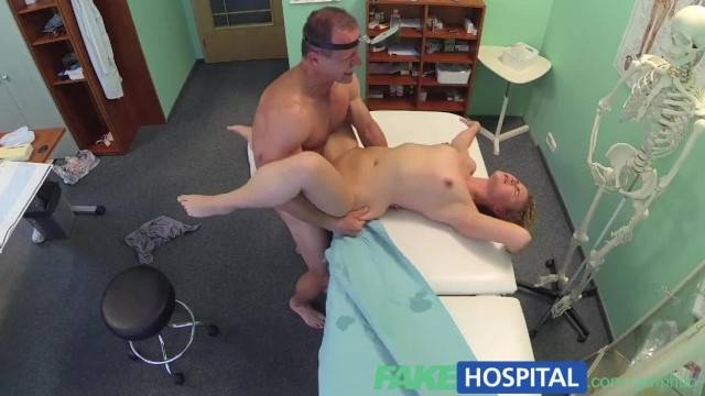 Triple Cumshot from Doctor when his Mistress Visits his Office