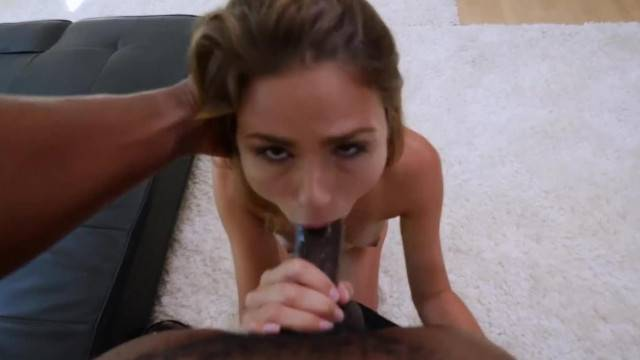 Seemily Shy Amateur gets Super Freaky with her first Black Guy
