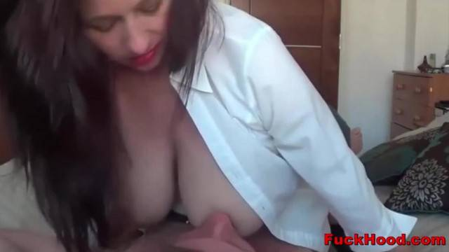 Breastfeeding Mommy gets her Big Boobs Sucked on while Fucking