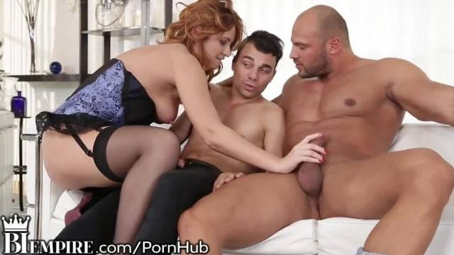 BiSexual Couple Hits on Young Hunk