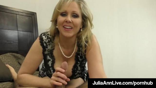 Hot Classy MILF Julia Ann Takes A Cock in her Mouth and Hands