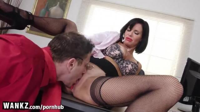 WANKZ Horny MILF Boss gets Fisted in her Office