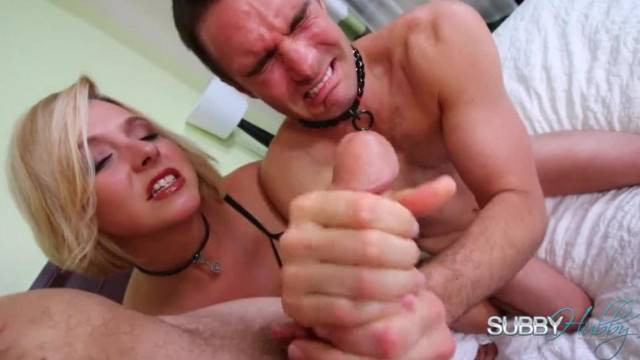 Brianna Punishes her Cuckold Sub to Stroke it