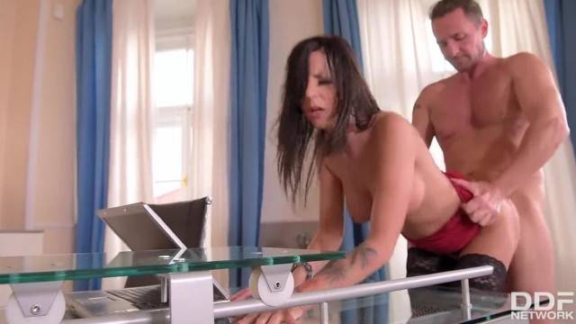 Hardcore Office Fuck makes Secretary Summer Shaved Tight Wet Pussy Drip