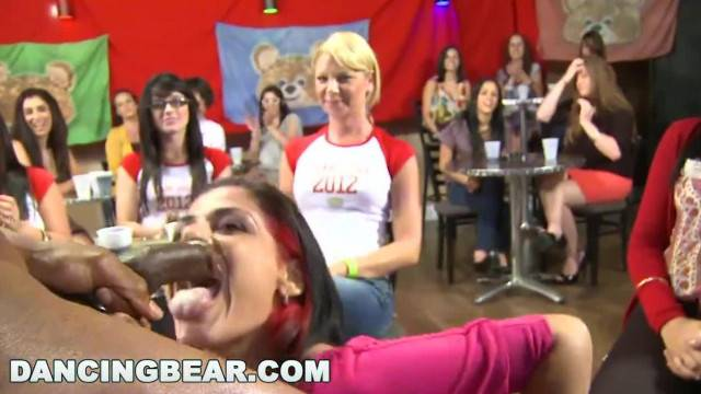 DANCING BEAR Bunch of Crazy Bitches Sucking Dick at Wild CFNM Party