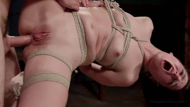 Naughty Babe gets Hard Fucking in Tight Bondage