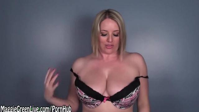 All Natural Blonde Maggie Green Encourages Big Load on Tits