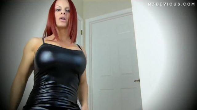 Redhead in Shiny Bodysuit wants you to Cum