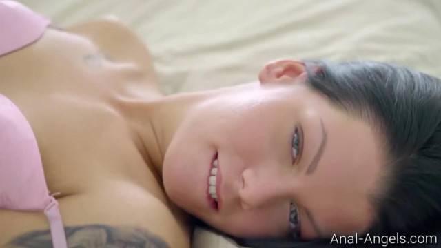 Anal Angels Riana G Tattooed Brunette Enjoys Hard Anal