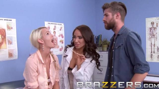 BRAZZERS Slutty Doctor Sandee Westgate can make any Man Cheat