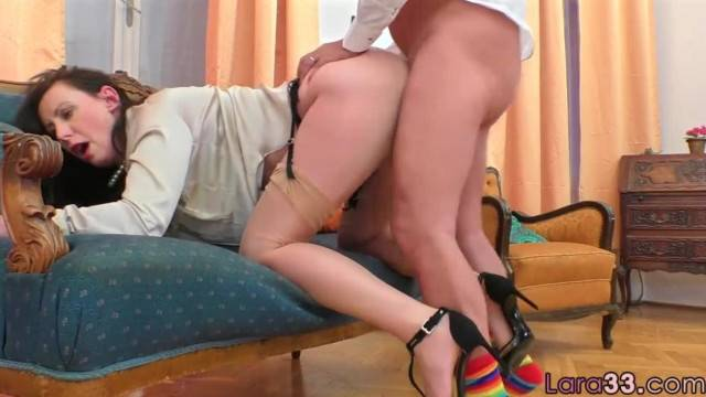 Roundass MILF Doggystyled in Couch Fuck Scene