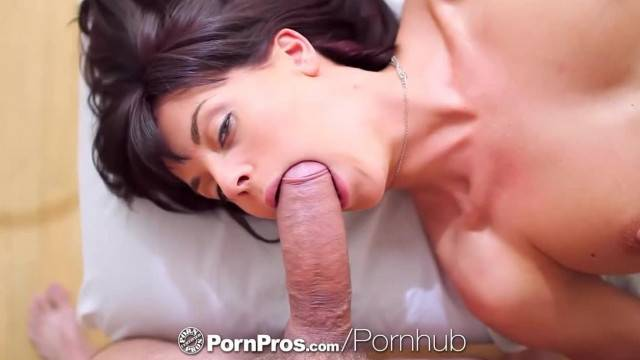 PornPros Tall Brunette Rahyndee James is Fucked Face down on the Table