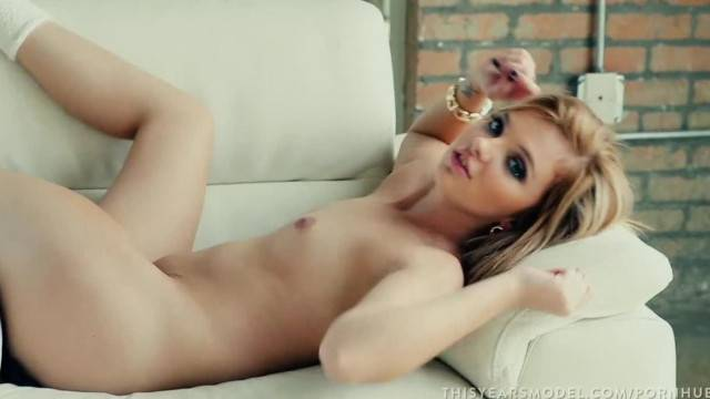 PROMO Sexy Blonde Teen Melody Enjoys Taking her Clothes Off