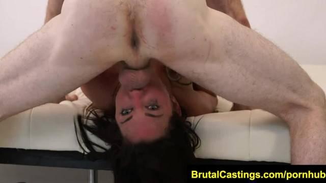 BrutalCastings Amara Romani Brutal Castings Chokes on Dick