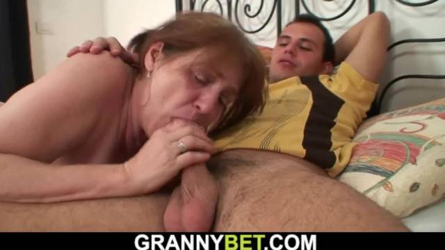 Guy Helps Injured Busty Hairy Pussy Granny