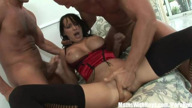 Wife Mandy Bright Receives two Cocks into her Pussy