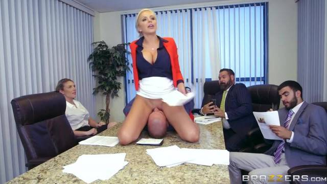 Office Face Sitting with Busty Nina Elle Brazzers
