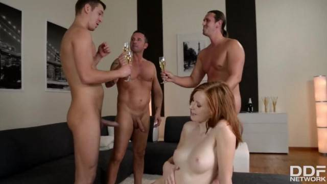Hardcore Threesome at Bachelors Party with Anal Sex Lover Linda Sweet