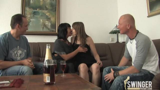 Double Dating Old and Young Couples Fucking Together