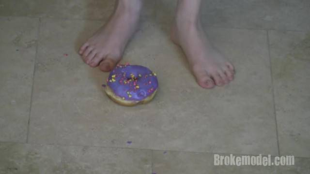 Ranie Mae Feet Crushing Donuts HD Smooching Highlights
