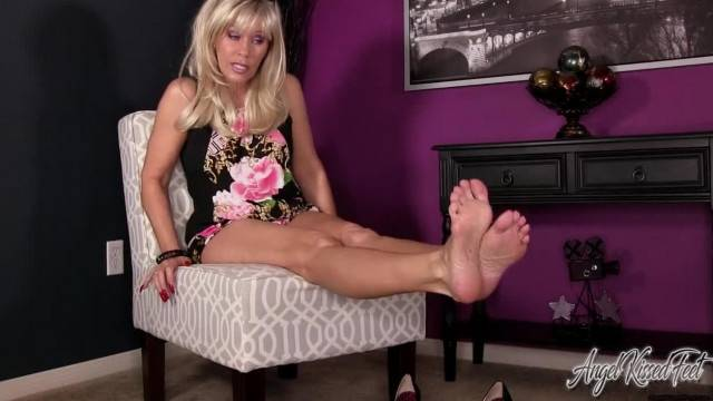 Angel Kissed Feet Big Sister Discovers your Foot Fetish and Teases you POV