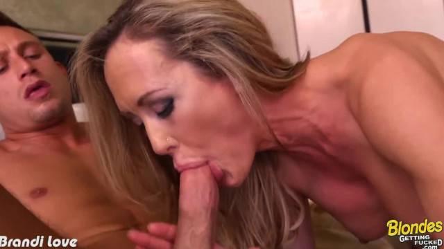 Sexy Blonde Brandi Love Fucking Young Stud