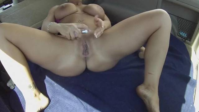 Naughty Amateur Babe with Huge Tits Toying her Pussy