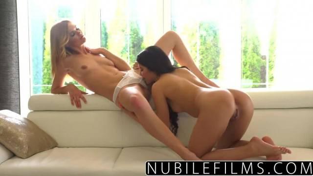 NubileFilms Lesbians Cum Harder