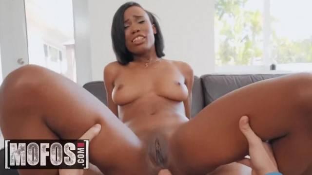 MOFOS Ebony Teen Ivory Logan makes POV Anal Sextape