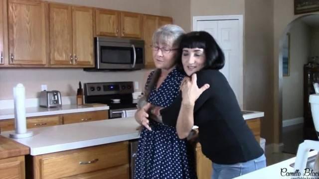Grandmother get Wedgied