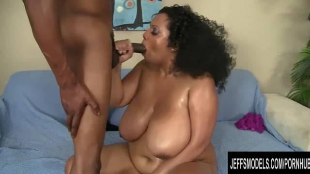 Big Boobed Bettie Blac Takes in a Big Dick