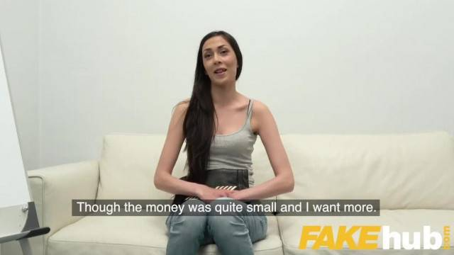 Fake Agent Sexy Slim Czech Model Sucks Thick Cock on Casting Couch