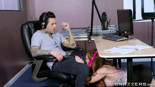 Redhead Teen Slut Sucks Dick Live on the Air Brazzers