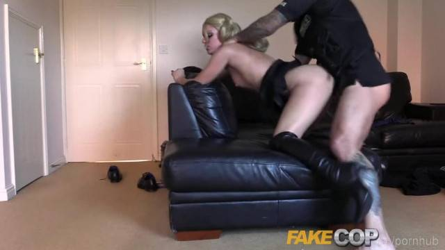 Fake Cop Sexy Litter Bug taken Home for Sex