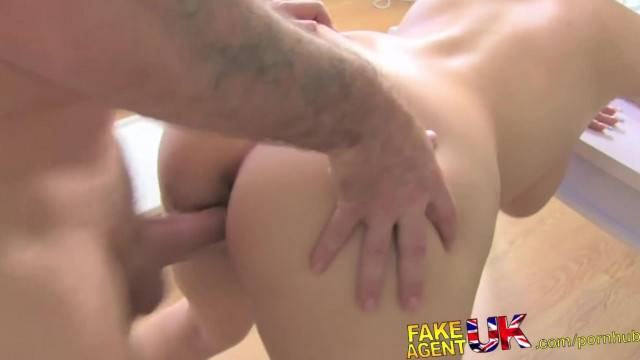 FakeAgentUK Huge Natural Tits Euro Babe Fucks Agent for Promise of Cash