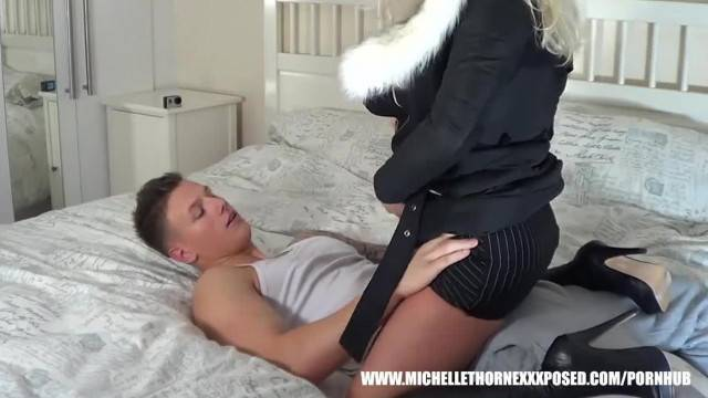 Busty Blonde Slut Michelle Thorne Sucks Young Studs Big Cock he Licks Pussy