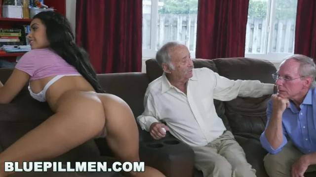 BLUE PILL MEN A Couple of old Men have Fun with Young Aaliyah Hadid