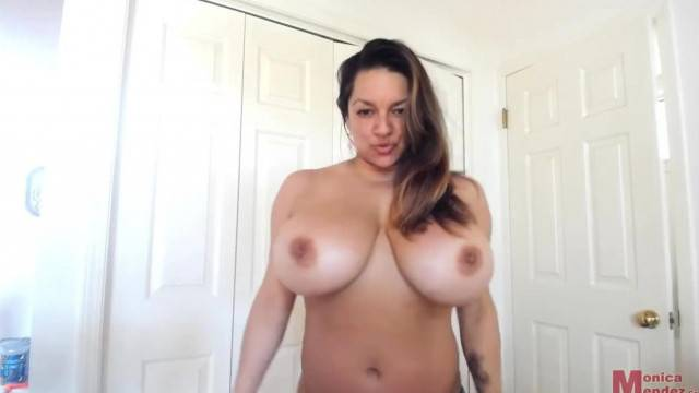 See Monica Mendez how her Huge Titties Fits into her new Sexy Lingerie
