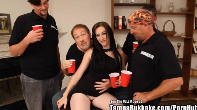 Hot Freckled Lactating Slut Bukkake Gangbang