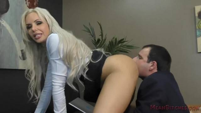 Boss Nina Elle makes her Employee Kiss her Ass Feet Femdom Worship