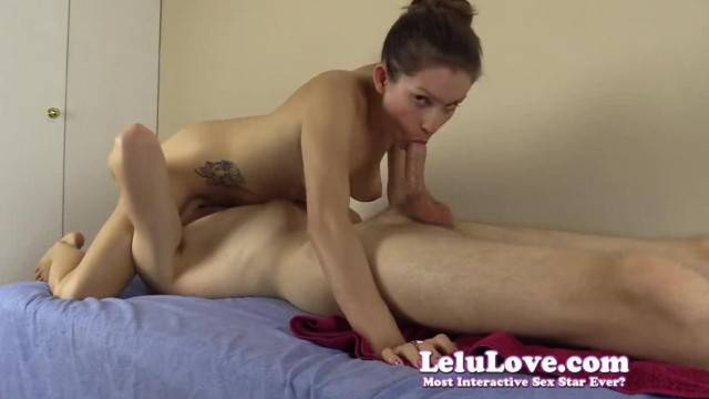 Amateur Couple 69s she gives Sloppy Blowjob then Plays with Cum