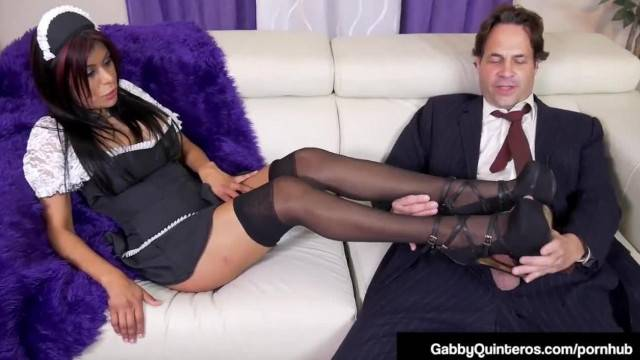 MexiMilf Maid Gaby Quinteros Cleans up Home A Dick