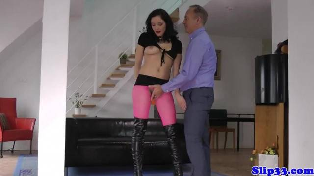 Busty British Teen Pussyfucked by Older Man