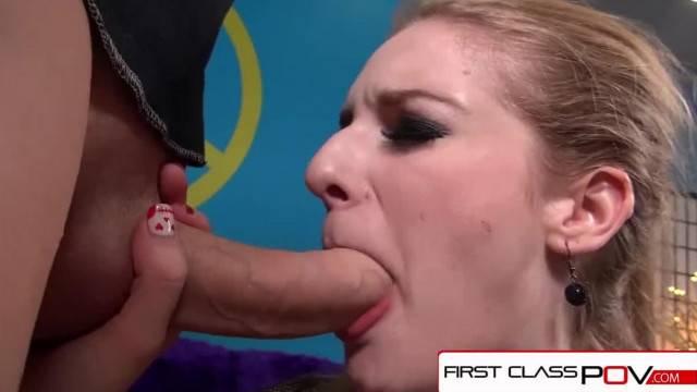 FirstClassPOV Big Booty Ela Darling Sucking a Monster Cock
