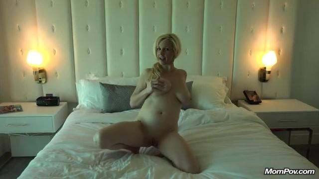 Slutty Natural Tits MILF Sucks me off POV in Hotel Room